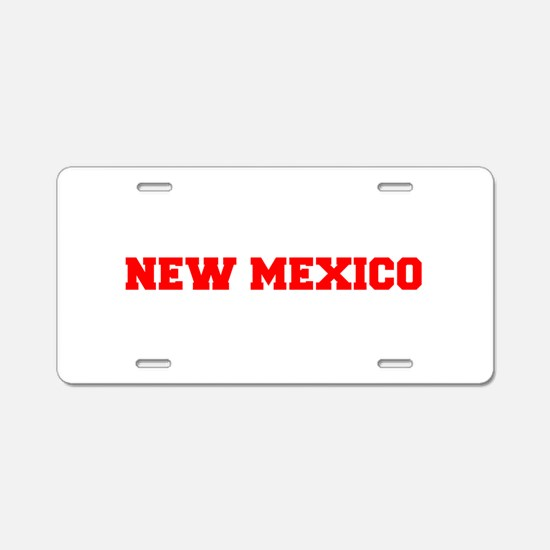 NEW MEXICO-Fre red 600 Aluminum License Plate