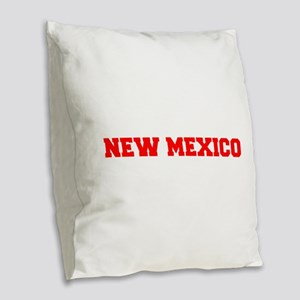NEW MEXICO-Fre red 600 Burlap Throw Pillow
