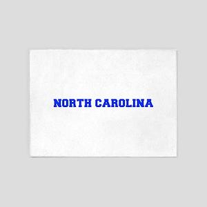 North Carolina-Fre blue 600 5'x7'Area Rug
