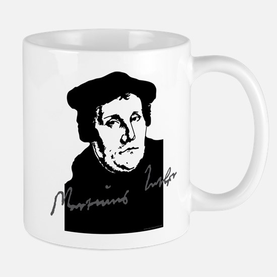 Martin Luther Bust And Signature Mugs