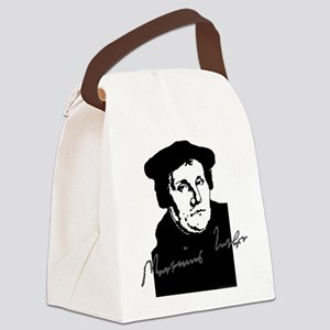 Martin Luther Bust and Signature Canvas Lunch Bag