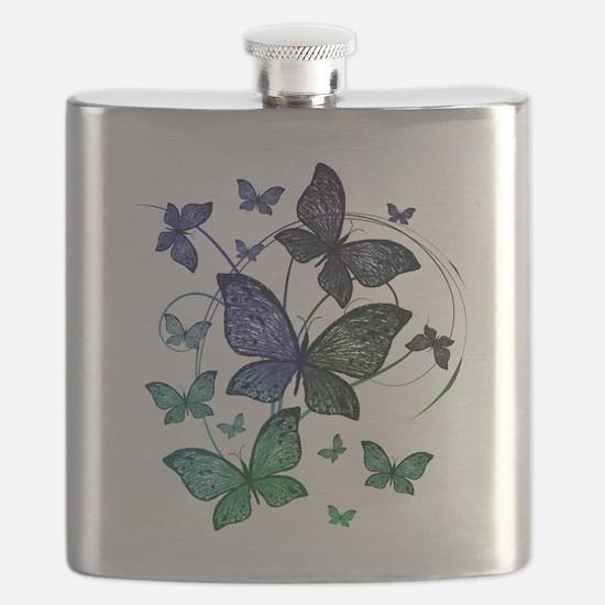 Butterflies Flask