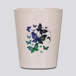 Butterflies Shot Glass