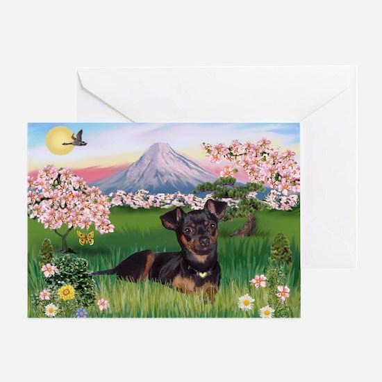 Blossoms & Min Greeting Card