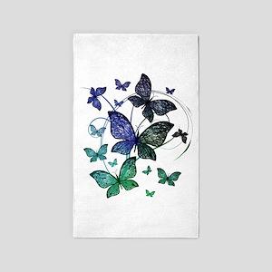 Butterflies Area Rug