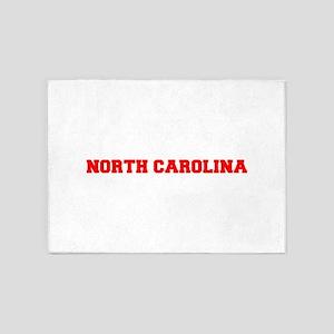NORTH CAROLINA-Fre red 600 5'x7'Area Rug