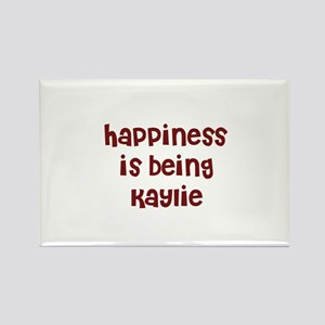 happiness is being Kaylie Rectangle Magnet