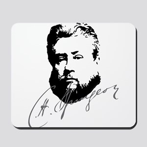 Charles Spurgeon Bust with Signature Mousepad