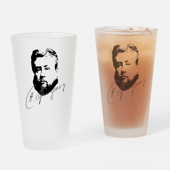 Charles Spurgeon Bust with Signature Drinking Glas