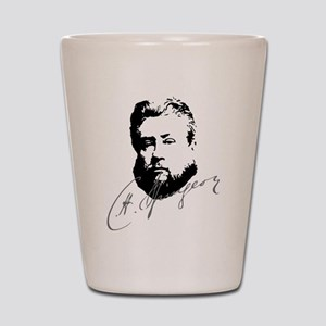 Charles Spurgeon Bust with Signature Shot Glass