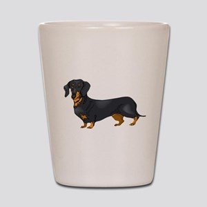 Black and Tan Dachshund Shot Glass