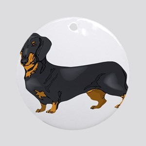 Black and Tan Dachshund Ornament (Round)