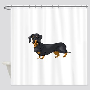 Black and Tan Dachshund Shower Curtain
