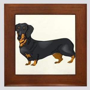 Black and Tan Dachshund Framed Tile