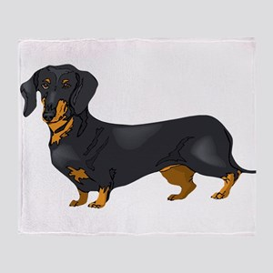 Black and Tan Dachshund Throw Blanket