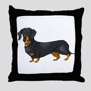 Black and Tan Dachshund Throw Pillow