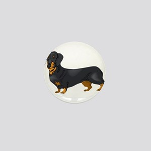 Black and Tan Dachshund Mini Button