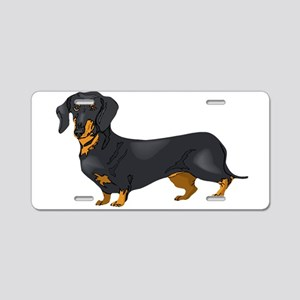 Black and Tan Dachshund Aluminum License Plate