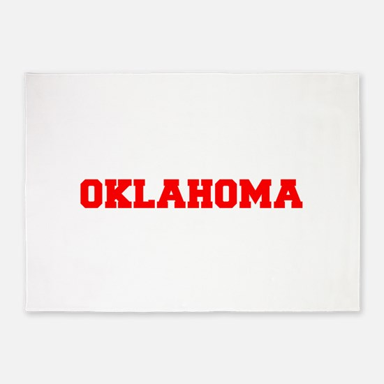 OKLAHOMA-Fre red 600 5'x7'Area Rug