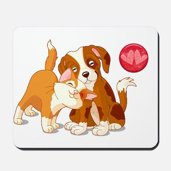 Cat and Dog Pals Mousepad