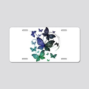 Butterflies Aluminum License Plate