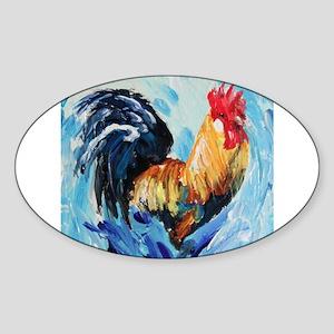 Rooster blue Sticker