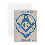 Masonic Birthday Greeting Card