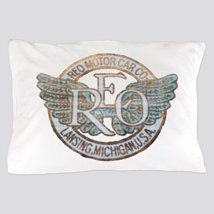 REO Motor Car Co. Retro Logo Pillow Case