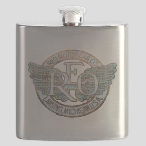 REO Motor Car Co. Retro Logo Flask