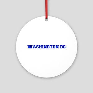Washington DC-Fre blue 600 Ornament (Round)