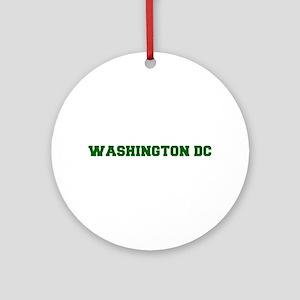 WASHINGTON DC-Fre d green 600 Ornament (Round)