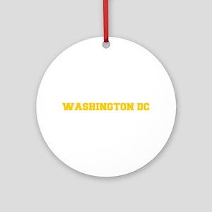 WASHINGTON DC-Fre gold 600 Ornament (Round)