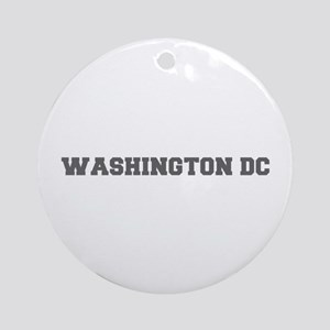 WASHINGTON DC-Fre gray 600 Ornament (Round)