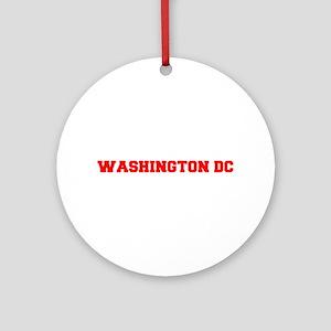 WASHINGTON DC-Fre red 600 Ornament (Round)