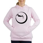 Moon and Bat Women's Hooded Sweatshirt