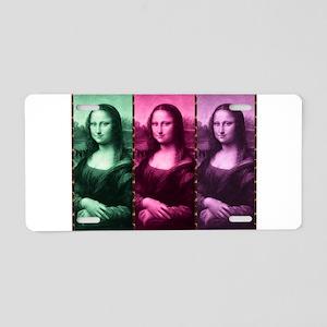 Mona Lisa Animal Print Green Pink Purple Aluminum