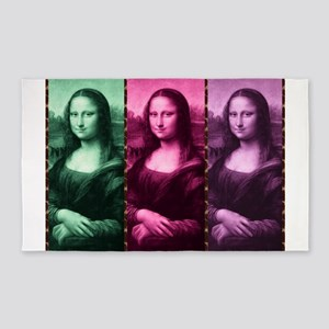 Mona Lisa Animal Print Green Pink Purple Area Rug