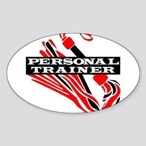 Personal Trainer Oval Sticker