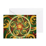 Celtic Pentacle Spiral Greeting Card