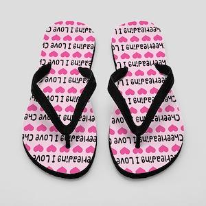 I Love Cheerleading Flip Flops