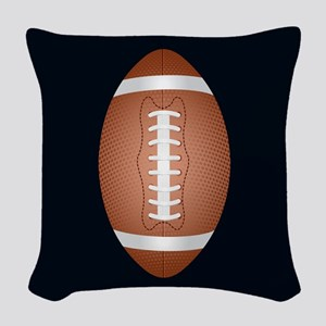 Football ball Woven Throw Pillow
