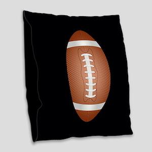 Football ball Burlap Throw Pillow