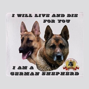 GSD Live and Die For You Throw Blanket