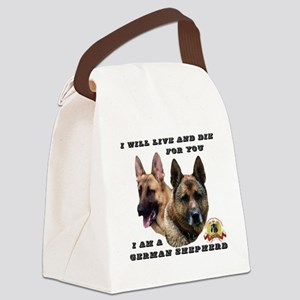 GSD Live and Die For You Canvas Lunch Bag