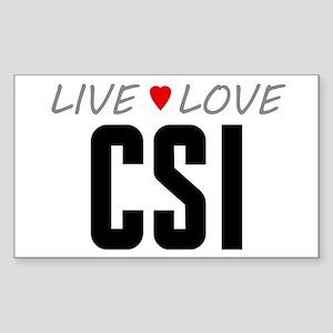 Live Love CSI Rectangle Sticker