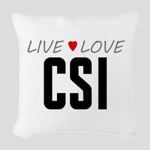 Live Love CSI Woven Throw Pillow