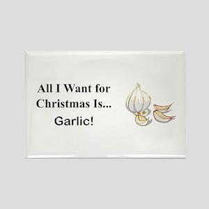 Christmas Garlic Rectangle Magnet