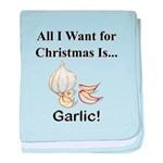 Christmas Garlic baby blanket
