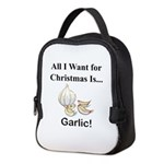 Christmas Garlic Neoprene Lunch Bag