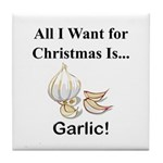 Christmas Garlic Tile Coaster
